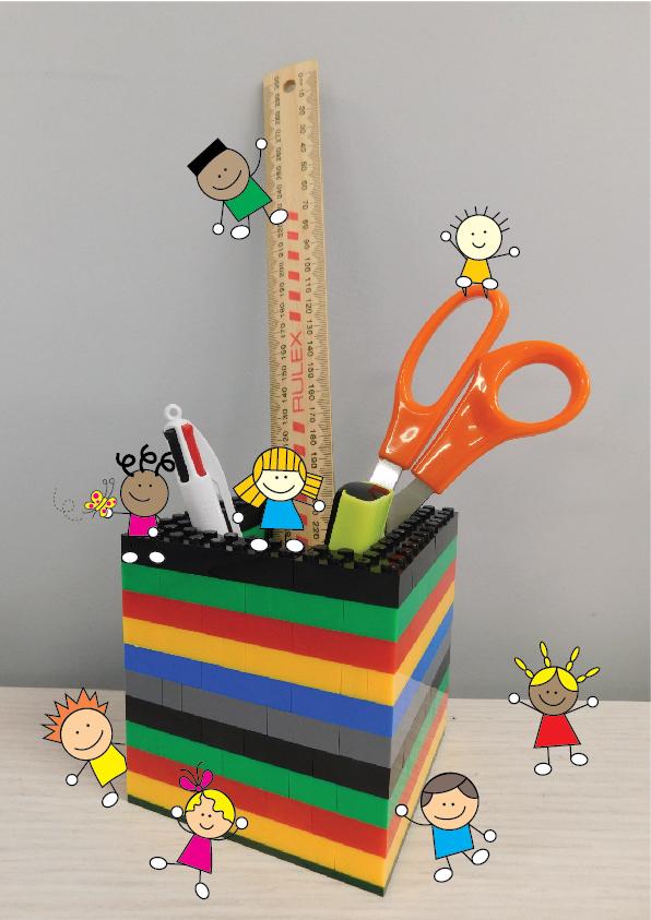 1 Lego Pen Holder - Brick Pen Holder