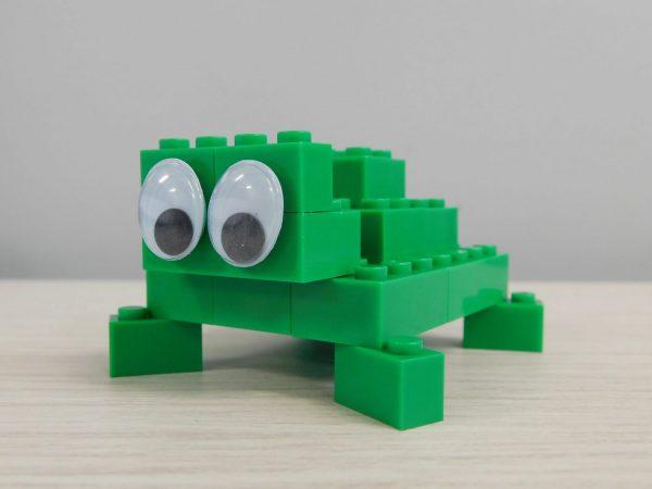 E046 Preschool Engineering Brick Challenge 1 Turtle 1 600x450 - Brick Challenge #1